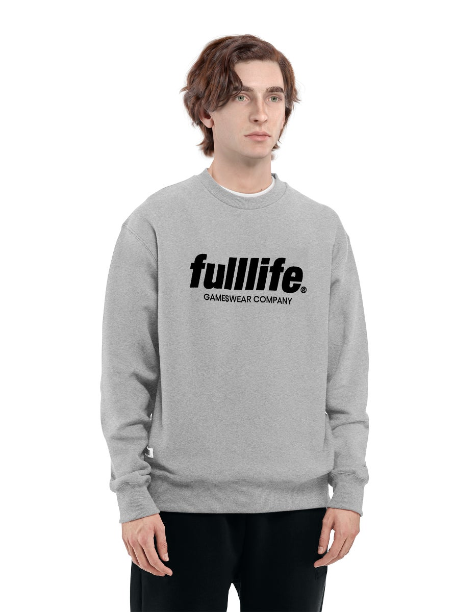 Fulllife Wordmark Sweatshirt Ash Grey