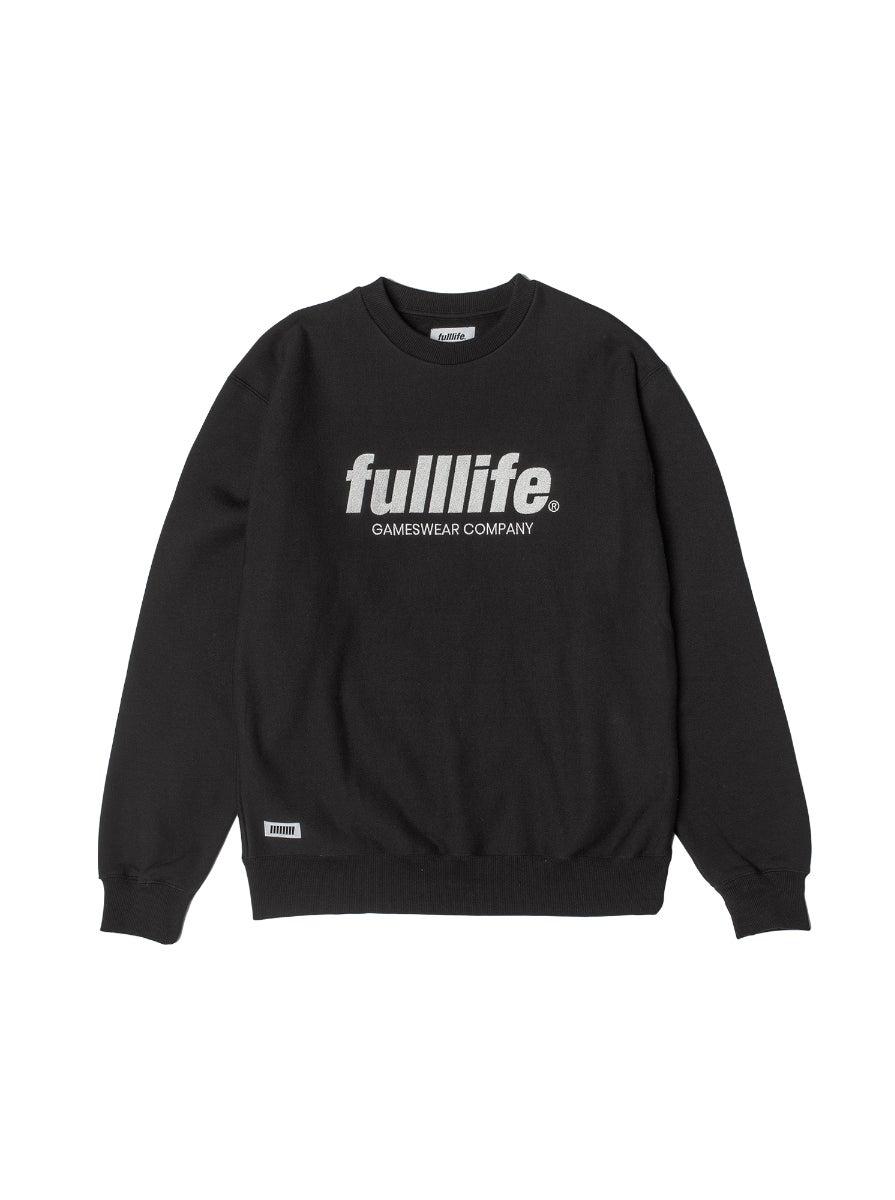 Fulllife Wordmark Sweatshirt Obsidian Black