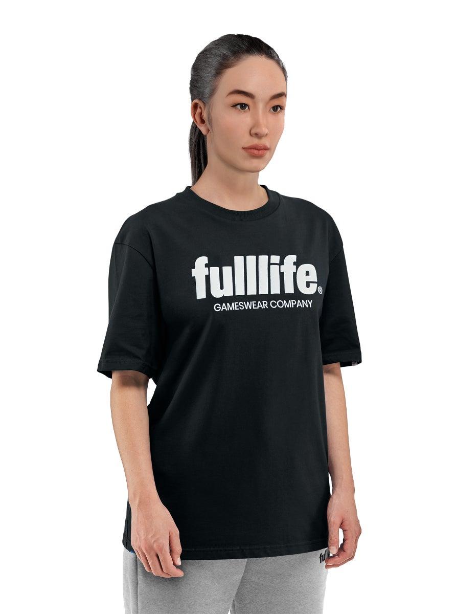 Fulllife Wordmark T-shirt Obsidian Black