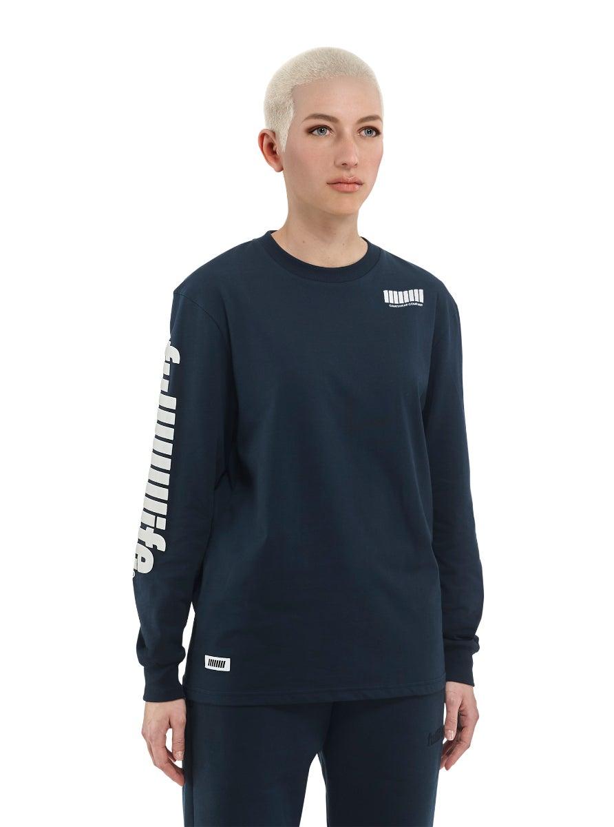 12 Hour Stream  Long Sleeve T-shirt Nebula Blue