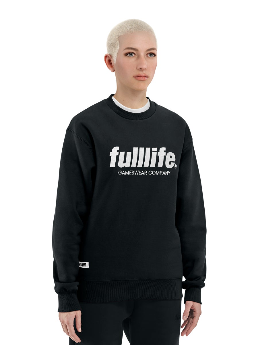 Fulllife Wordmark Sweatshirt Obsidian Black