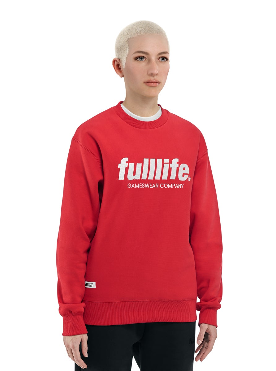 Fulllife Wordmark Sweatshirt HP Red