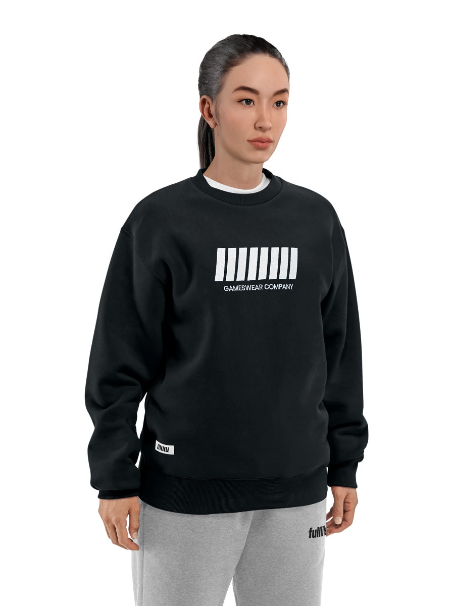 Fulllife Bar Sweatshirt Obsidian Black