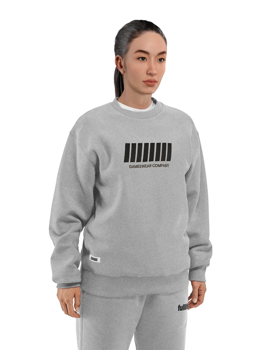 Fulllife Bar Sweatshirt Ash Grey