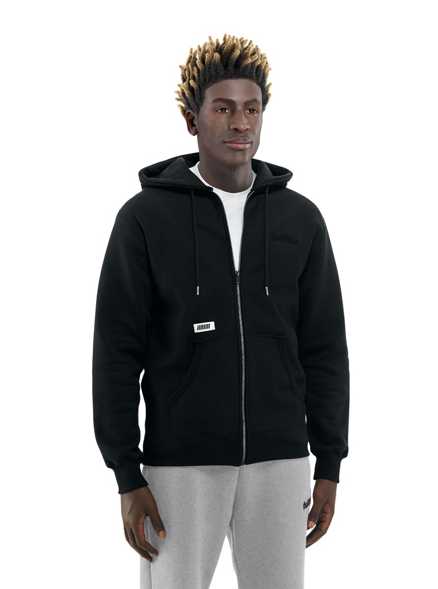 Lan Party Zip Hoodie Obsidian Black