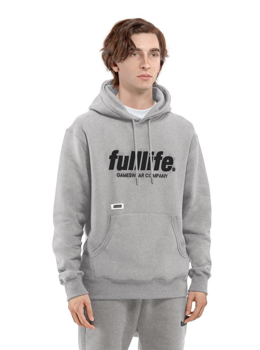Fulllife Wordmark Hoodie Ash Grey